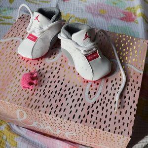 JORDAN Jumpman Pink/White/Grey Sneakers Baby Girl
